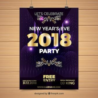 Cartaz do ano novo do partido