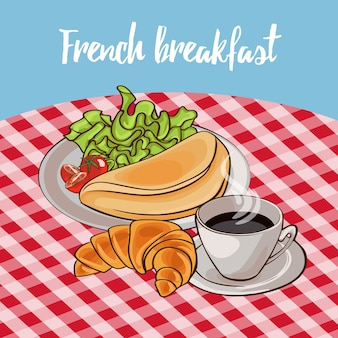 Cartaz do café da manhã francês