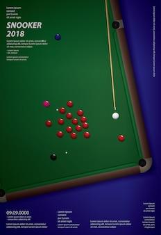Cartaz do campeonato da sinuca