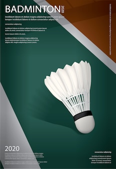 Cartaz do campeonato de badminton