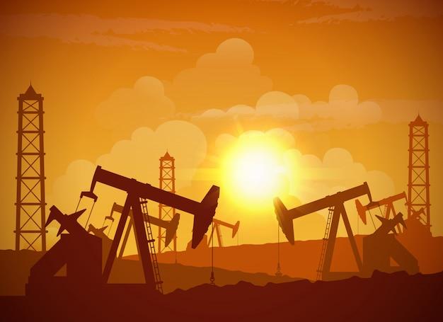 Cartaz do campo petrolífero