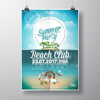 Cartaz do clube da praia