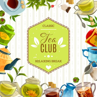 Cartaz do clube do chá