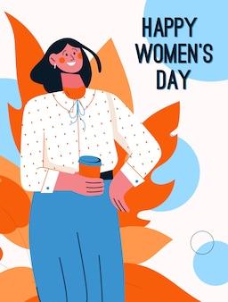 Cartaz do conceito de feliz dia das mulheres