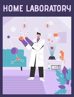 Cartaz do conceito de laboratório doméstico