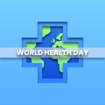 Cartaz do conceito do dia mundial da saúde