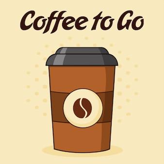 Cartaz do copo de café com texto