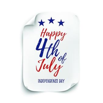 . cartaz do dia da independência americana.