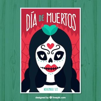 Cartaz do dia da morte com mulher morta
