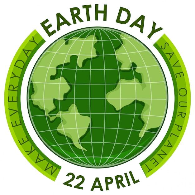 Cartaz do dia da terra verde