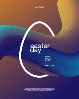 Cartaz do dia de páscoa
