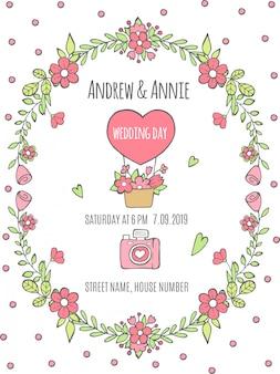 Cartaz do dia do casamento. convite para o dia do casamento