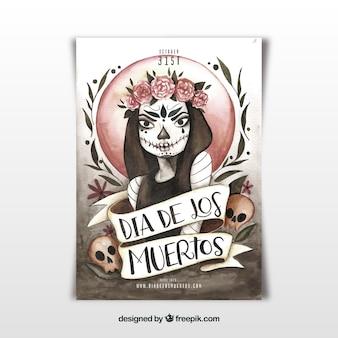 Cartaz do dia do dia dos mortos