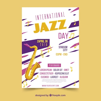 Cartaz do dia do jazz internacional