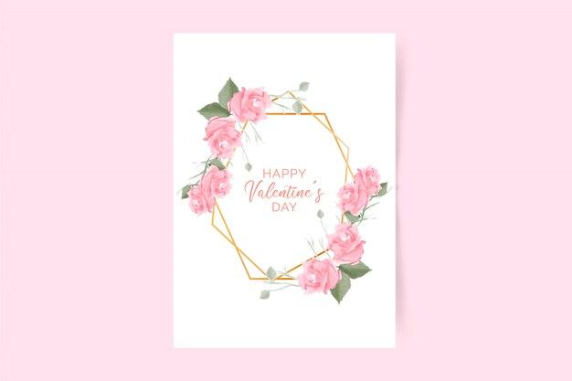 Cartaz do dia dos namorados com rosas rosa