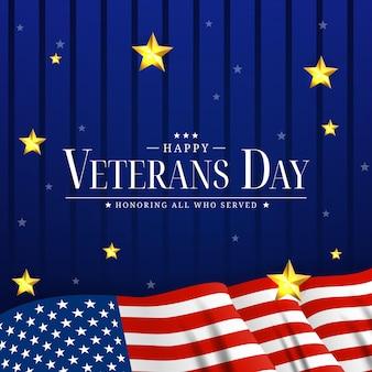 Cartaz do dia dos veteranos dos eua. ilustração vetorial. eps10