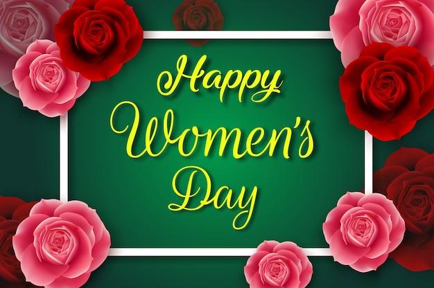 Cartaz do dia internacional das mulheres felizes