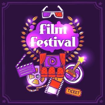 Cartaz do esboço do cinema
