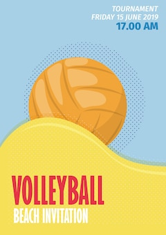 Cartaz do esporte do voleibol de praia
