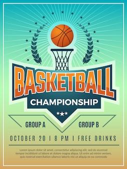 Cartaz do esporte. emblema distintivo logotipo ou escudo para cartaz retrô de esporte competição com lugar para o seu texto