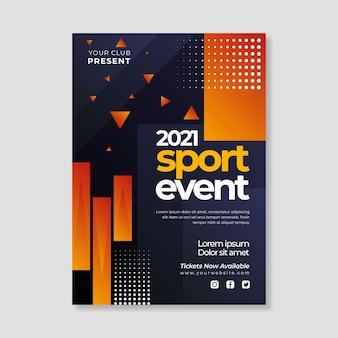 Cartaz do evento de esportes 2021