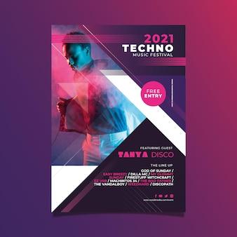 Cartaz do evento de música 2021 com foto