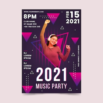 Cartaz do evento de música 2021