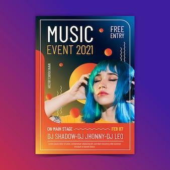 Cartaz do evento de música 2021