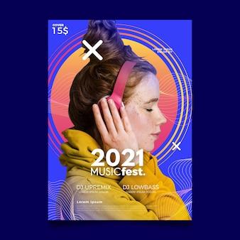 Cartaz do evento de música para o projeto 2021
