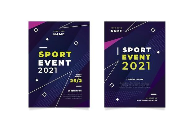 Cartaz do evento esportivo 2021
