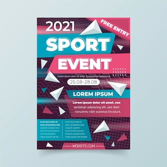 Cartaz do evento esportivo 2021