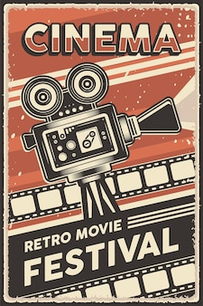 Cartaz do festival de cinema retro de cinema