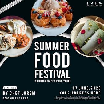 Cartaz do festival de comida de verão
