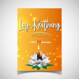 Cartaz do festival de loy krathong