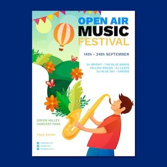 Cartaz do festival de música ao ar livre