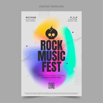 Cartaz do festival de música de textura gradiente