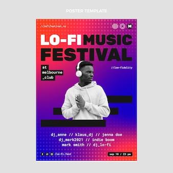Cartaz do festival de música gradiente em meio-tom