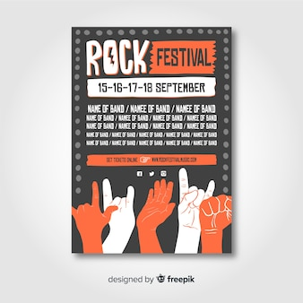 Cartaz do festival de música rock
