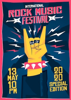 Cartaz do festival de música rock