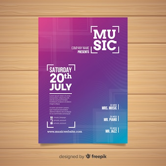 Cartaz do festival de música