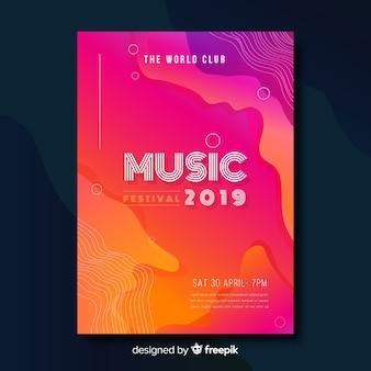 Cartaz do festival de música