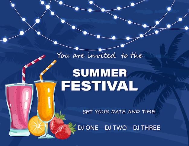 Cartaz do festival de verão