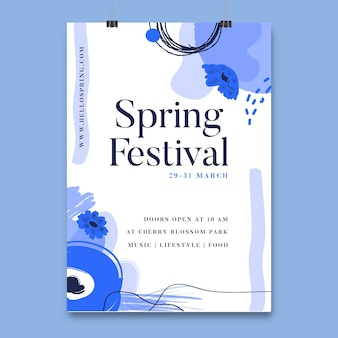 Cartaz do festival floral da primavera