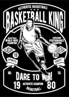 Cartaz do jogador de basquete