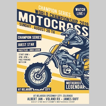 Cartaz do motocross