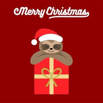 Cartaz do natal da preguiça