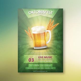 Cartaz do partido da noite de oktoberfest