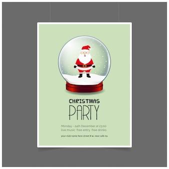 Cartaz do partido do boneco de neve do natal