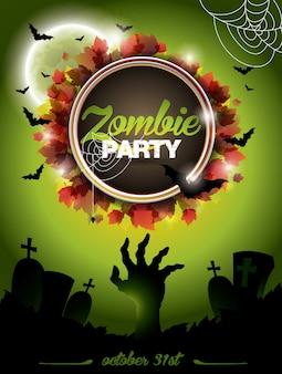 Cartaz do partido do zombi