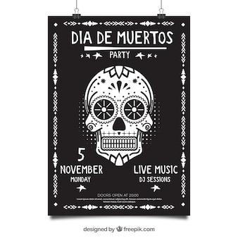 Cartaz do partido mexicano com estilo elegante
